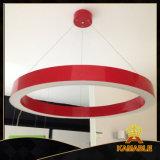 Moderne 60W Rouge pendentif rond décoratif LED ( MB- 7019 )