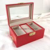 El Almacenaje de Cuero del Embalaje del Regalo de la PU del Oro de Múltiples Funciones de Lujo Hizo el Rectángulo de Joyería a Mano de la Joyería