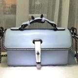 Sacchetti di spalla di lusso di vendita caldi delle donne del cuoio genuino della borsa delle signore di disegno speciale con il bordo Chain Emg5156