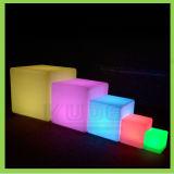 RGB多彩な屋外LED棒立方体の椅子
