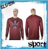 T-shirt occasionnel personnalisé d'impression de chemise d'hommes/dames long (T009)