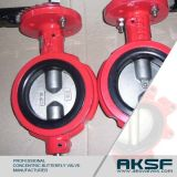 Tipo de Wafer Nylon Lined Disc Concentric Butterfly Valve