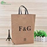 Sacola de papel de embalagem Kraft de alta qualidade personalizada para compras / Gift / Clothing (KG-PB015)