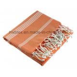 Multifunctionele Handdoek 140 GSM van /Hammam van de Handdoek van het Strand Fouta van 100% Katoen Geweven (voet 02)