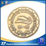 античная монетка сувенира плакировкой золота 3D с мягкой эмалью (Ele-C207)