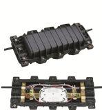 Fermeture de épissure de fibre optique d'épissure d'ABS horizontal de la fermeture 2in-2out