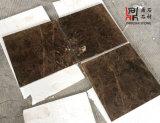 Possedere le mattonelle di marmo scure di pavimentazione di pietra naturali della Spagna Emperador della cava