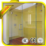 Borrar la pantalla de ducha del vidrio helado, puerta del vidrio de la ducha