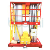 elevador hidráulico dobro de plataforma de trabalho aéreo do mastro 10m (fabricante direto)