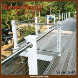 Pêche à la traîne d'intérieur d'escalier d'acier inoxydable de système à rails de câble métallique (SJ-H1834)