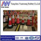 75cm rotes und weißes reflektierendes 75cm PET Gummistraßen-Verkehrs-Kegel für Verkauf