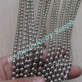 Catena usata progettista domestico della sfera di metallo della tenda dell'argento 6mm