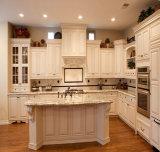 Cozinha modular da estratificação de madeira natural da grão