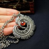 joyería pendiente de la manera del collar de la pluma del acero inoxidable 316L