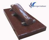 Personnalisé découpant la statue rouge fabriquée à la main de granit