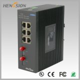 Porta 6 elétrica e interruptor industrial da rede Ethernet de 2 Fx