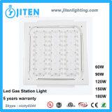 60W a la luz ahuecada techo del pabellón de 180W IP66 LED para la luz de la gasolinera