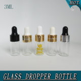 3ml Refilável Mini Clear Olive Oil Perfume Glass Dropper Pipette Bottle