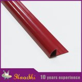 Tipo durable tiras de transición del ribete del suelo del PVC (HSRO-280) del cierre del redondo