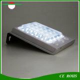 Sin hilos accionada solares impermeabilizan 24 luces al aire libre solares de la lámpara de pared del sensor de movimiento del LED