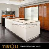 Nieuwe Moderne hoog van het Ontwerp polijst het Meubilair van de Keukenkast en van de Keuken met de Marmeren Bovenkant van de Bank (AP138)