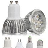 Blanc chaud AC85-265V 3W 5W 7W GU10 de GU10 Dimmable de projecteur lumineux superbe du plafond DEL