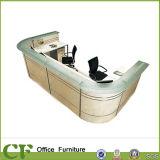 Mobiliário de escritório Recepção Recepção de mesa Recepção de salão curvado da beleza