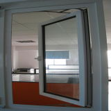 Finestra di alluminio della stoffa per tendine di vetratura doppia di stile americano di Schang-Hai Pnoc fatta in Cina