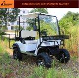 4 Passagier-Cer-anerkannte elektrische Jagd-Golf-Karren-Rückseiten-Rückseiten-Falz-Sitze