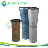 Cartuccia di filtro pieghettata dalla cellulosa del compressore d'aria della turbina a gas di Forst
