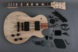 Mogno cinzelado com o jogo da guitarra da parte superior do bordo de Splited