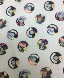 Tela impresa diseño mágico del Organza del círculo para la ropa y las materias textiles