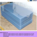 Feuille rigide transparente de PVC de plastique