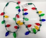 Bulbos grandes do feriado do Natal que piscam colares