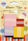 Square em branco Tag com Warm Color Series Assortment Tgs-1