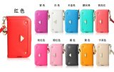Mobile cuero caso del teléfono de la caja del teléfono Sumsung y iPhone