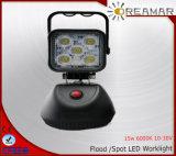 lumière carrée de travail de 15W 6000k 1000lm IP68 Epistar DEL DEL pour la garantie 3years Ce/DOT/E-MARK/Rhos de camion