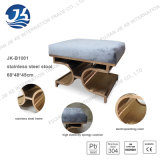 Tamborete do aço inoxidável com o coxim esponjoso da elasticidade elevada