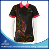 Company Uniform를 위한 가득 차있는 Sublimation Custom Polo Shirt