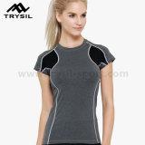 sport 숙녀 t-셔츠 여자 체조 셔츠 적당 상단