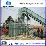 Presses automatiques horizontales de machine de presse hydraulique de grande capacité de Hellobaler