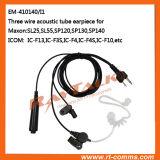 écouteur acoustique de tube de 3-Wires pour Icom IC-F13/IC-F3s/IC-F4/IC-F4s/IC-F10
