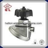 Válvula de diafragma soldada manual da parte inferior do tanque do aço inoxidável