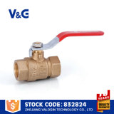 Vávulas de bola de cobre/de cobre amarillo de la maneta palanca (VG-A12102)