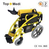 Topmedi China supplier Silla de ruedas plegable de la energía eléctrica Tew806D