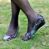 Ladie PVC-Freizeit-Schuhe, Form-Frauen-Absatz-Regen-Matten