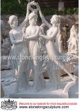 大理石像、大理石の彫刻、石造りの庭の彫像(SK-2450)