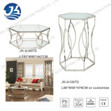 Edelstahl Coffee Table mit Bereift-Glass