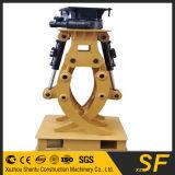 A máquina escavadora de pedra de giro hidráulica da garra da máquina escavadora luta