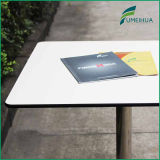 Quattro People Square Kfc Fast Food Table in White Color Round Corner